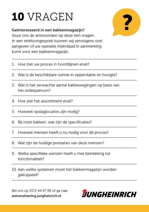bakkenmagazijn checklist